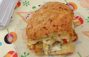 Green-eyed Monster Pimiento Cheese Buttermilk Biscuit