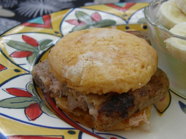 Sweet Potato Biscuit with sausage