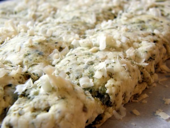 Pesto Parmesan Biscuit Dough