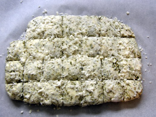 Pesto Parmesan Biscuit Dough