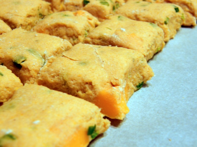 Sweet Corn Jalapeno Cheddar Biscuit Dough