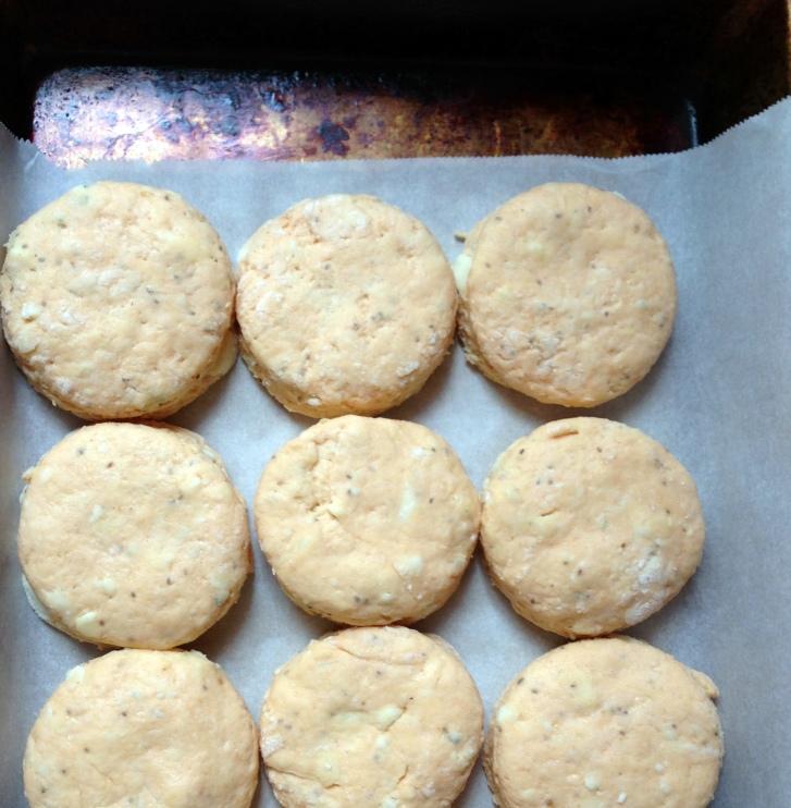 buffalo blue cheese biscuit dough