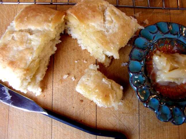 Banana Biscuits with Honey Butter