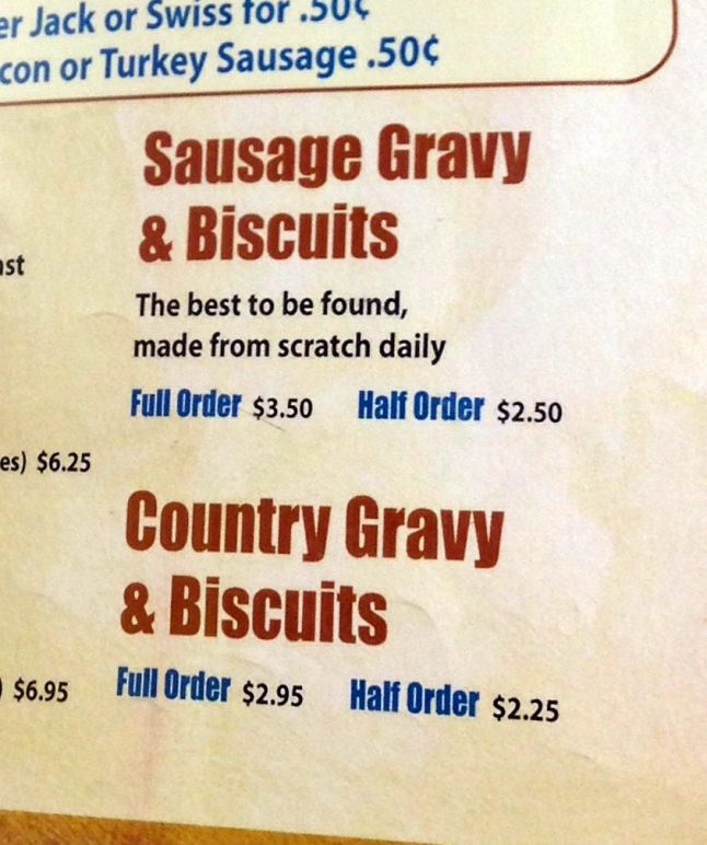 Nashville Biscuit House Menu