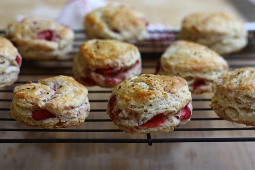Strawberry Black Pepper Biscuits